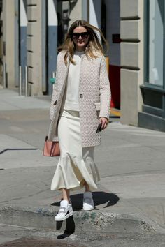Olivia Palermo in Long Skirt out in Brooklyn - April 10, 2017