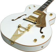 Gretsch White Falcon , masterpiece of semi-acoustic guitars. guitars guitars