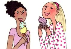 My Little Paris -- It's my niece and I except our ice creams are Magnums, mine the new champagne one. Délicieux!