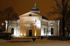 The church in Hämeenlinna (Finland)