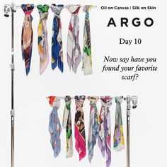 Have you found you favorite ARGO Oil on Canvas I Silk on Skin Scarf?