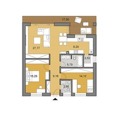 House plans - choose your house by floor plan 3 Bedroom Bungalow, Small Bungalow, Small House Floor Plans, My House Plans, Site Plan Drawing, Construction Cost, House Elevation, Concrete Blocks, Architectural Features