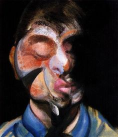 francis bacon >> three studies for self-portrait, 1972  b  |  (Oil, artwork, reproduction, copy, painting).