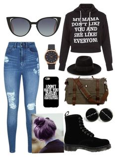 """""""Random"""" by lunalynch13 on Polyvore featuring Lipsy, Dr. Martens, Fendi, Maison Michel and Marc Jacobs"""