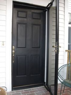 The black storm door I dream of with full view! I love the look of ...