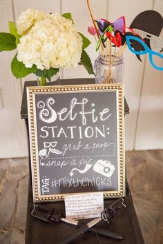 Selfie stations are our new favorite trend! #cedarwoodweddings Candlelight in the Rain :: Jenny+Brandon | Cedarwood Weddings