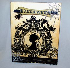 Halloween Silhouette Card by RavensCards