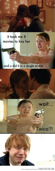 Poor Ron…I suppose those are the perks of being a wallflower. ;D