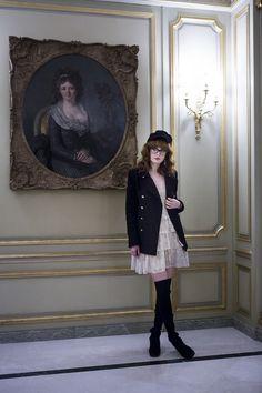We ADORE this lace dress and black velvet jacket :) @ Pandora