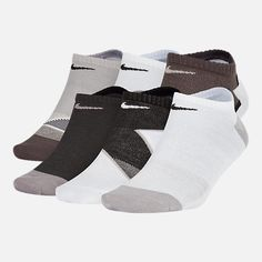 ea601dbef14e42 Front view of Women s Nike 6-Pack Everyday Cushion No-Show Training Socks in