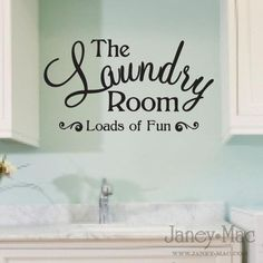 Laundry Room Wall Decal Quote - Loads of Fun Sticker - Vinyl Wall Art Room Decor