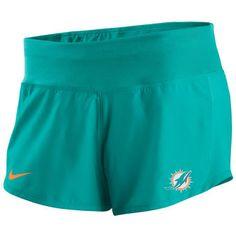 Women's Nike Aqua Miami Dolphins Gear Up Crew Performance Shorts