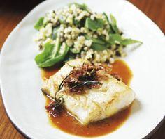 Torsk med smak av medelhavet är en aromatisk och fruktig fiskrätt. Högklassiska smaker som saffran, anis och blodapelsin passar torsken fint. Bulgursallad blir gott till.