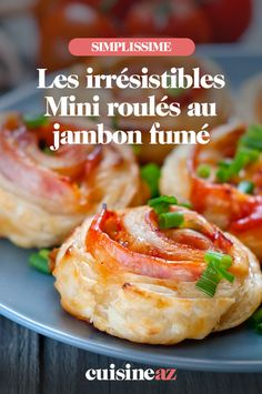A recipe that is perfect for an aperitif! These mini smoked ham rolls are ideal Vegetarian Lasagna Roll Ups, Vegetarian Italian Recipes, Vegetarian Appetizers, Appetizer Recipes, Dinner Recipes, Best Holiday Appetizers, Holiday Recipes, Mini Rolls, Ham Rolls