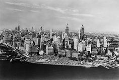 Así era el 'skyline' de Nueva York en 1955
