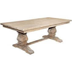 Casual Elements Santa Fe Balustrade Dining Table with a Solid Top, 7 ft