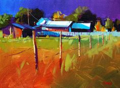 Artist: Mike Svob, Title: Sunrise Farm - click on image to enlarge
