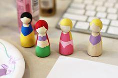DIY Princess Peg Dolls (A Tutorial and Download) | Lil Blue Boo