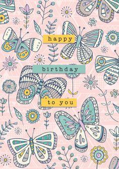 Rebecca Prinn - RP Aztec Butterflies Birthday Mother's Day