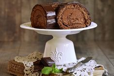 čokoládová piškotová roláda