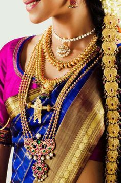Traditional wedding jewels(Tamil culture)