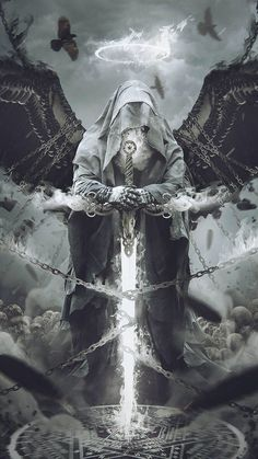 Archive Realm of Fantasy: Of Angels and Demons Vol. 2 :iconrealm-of-fantasy: &nb. Collection: Of Angels and Demons Vol. Dark Fantasy Art, Fantasy Artwork, Dark Art, Demon Artwork, Archangel Tattoo, Archangel Azrael, Grim Reaper Art, Art Noir, Knight Tattoo