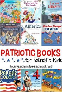 15 Engaging Patriotic Picture Books for Kids of All Ages Celebrate the of July with a basket full of patriotic picture books! Each of the picture books in this collection will help you and your little ones celebrate our great nation! Pre-school Books, Good Books, Library Books, Toddler Books, Childrens Books, Professor, Patriotic Pictures, Day Book, Summer Activities For Kids