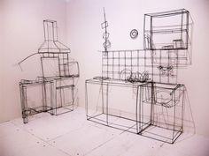 Wire art kitchen