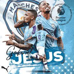 Football Design, Football Art, Football Players, Soccer Poster, Nike Poster, Sport Inspiration, Graphic Design Inspiration, Manchester City Wallpaper, Gabriel Jesus