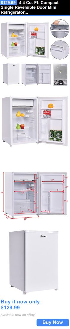 Major Appliances: 4.4 Cu. Ft. Compact Single Reversible Door Mini Refrigerator And Freezer Office BUY IT NOW ONLY: $129.99