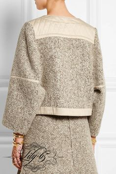 See by Chloé - Wool-blend tweed jacket Fall Fashion Outfits, Autumn Fashion, Womens Fashion, Clothing Patterns, Dress Patterns, Chloe Clothing, Look Blazer, See By Chloe, Tweed Jacket