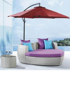 pool lounge chairs with umbrellas