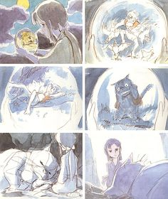 98 Charming Concept Sketches From MiyazakiMovies