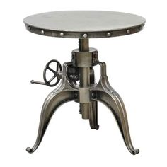 Kuute Iron 22-inch Crank Table by Kosas Home