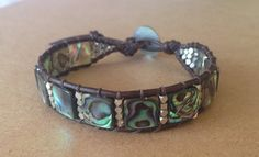 Handcrafted Abalone single wrap bracelet by LAFamilyJewels on Etsy #abalone #bracelet #handcrafted #jewelry etsy.com/shop/LAFamilyJewels