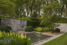 The Laurent-Perrier Garden Gold & Best in Show at the RHS Chelsea Flower Show 2014 Landscape Architecture, Landscape Design, Laurent Perrier, Zen Garden Design, Water Features In The Garden, Chelsea Flower Show, Garden Photos, Parcs, Contemporary Landscape