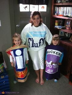 Homemade PB & J costumes
