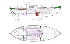The Frances: a 26-foot double-ender sailboat, Chuck Paine yacht design