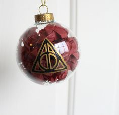 Harry Potter Christmas Ornament Sign of the by ClarityArtwork, $14.00