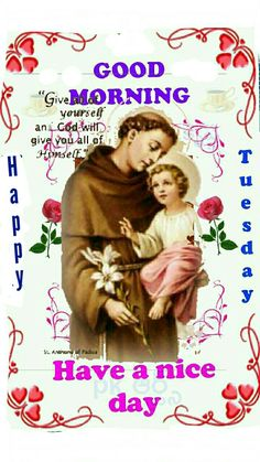 Good Morning Coffee, Good Afternoon, Good Morning Good Night, Good Morning Images, Good Day, Good Night Greetings, Morning Greetings Quotes, Saint Anthony Of Padua, Dil Se
