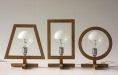 Lampade da tavolo in legno rovere naturale, He She It, design Stefano ...
