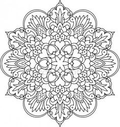 Coloring Book Art, Coloring Pages To Print, Mandala Coloring, Colouring Pages, Free Coloring, Adult Coloring Pages, Coloring Sheets, Mandala Drawing, Mandala Art