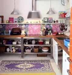 Colorful Boho Chic Kitchen Design