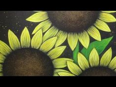 EASY Acrylic Painting on Canvas Sunflowers Painting Tutorial