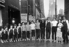 Large Family Barefoot in Manhattan    		1955