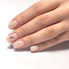 Nude Nails, White Nails, Gel Nails, Acrylic Nails, Acrylic Art, Coffin Nails, Milky Nails, Dot Nail Designs, Nails Design
