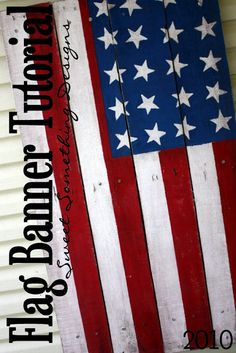 DiY Flag Banner out of salvaged wood pallet