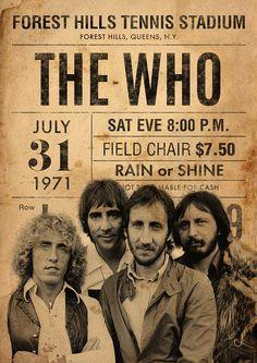 The Who - Concert Poster Vintage Concert Posters, Poster Vintage, Cover Art, Mundo Musical, Rock Band Posters, British Rock, Tour Posters, Rock Concert, Janis Joplin