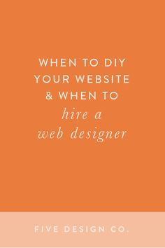 When to DIY your website and when to hire a web designer. // What you can do yourself on your Squarespace website vs. what you'll need coding knowledge to customize why small businesses, entrepreneurs, freelancers Creative Web Design, Web Design Tips, Web Design Company, Design Ideas, Business Website, Business Tips, Online Business, Business Marketing, Creative Business