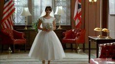 rachel berry glee modest wedding dress